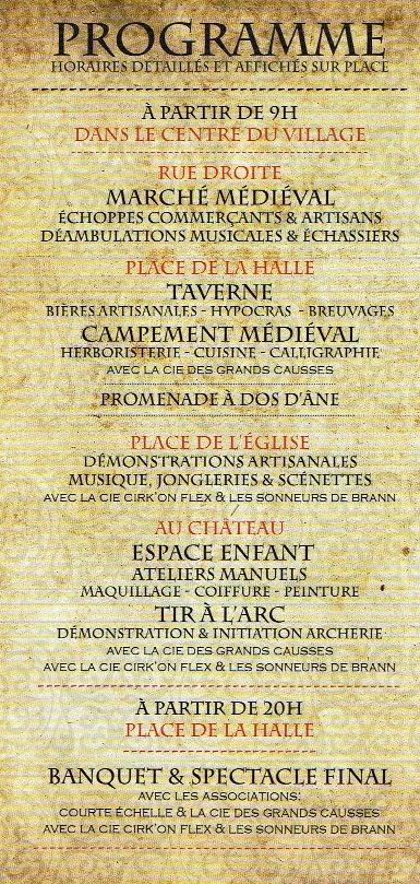 Journée médiévale 2018